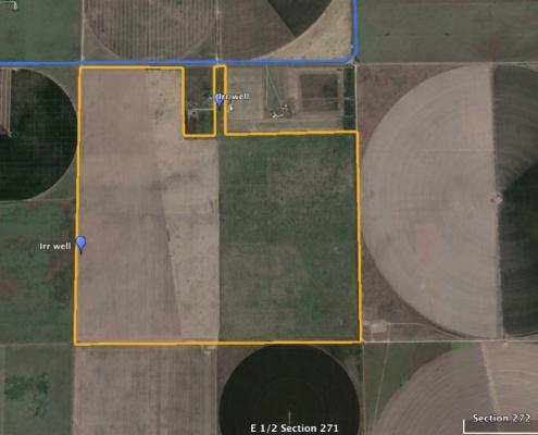 Dumas Dryland 544 acres satellite image