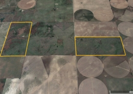 google satellite image of farm parcels
