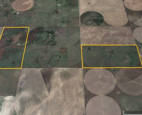 google satellite image of farm parcels
