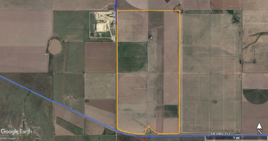 Moore County Irrigated 1248 satellite image