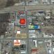 google image with business mcdonals,. holiday in exppress, cefco and route 66 logos on it with yellow box outline in south part of screen