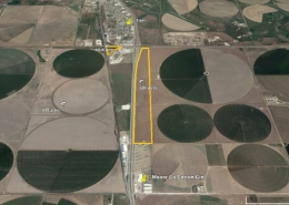google satellite image with yellow boundary marking spot on map